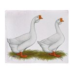 White African Geese Throw Blanket