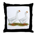 White African Geese Throw Pillow