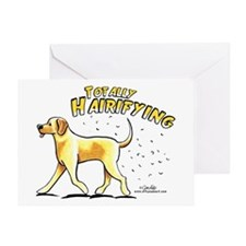 Yellow Lab Hairifying Greeting Card