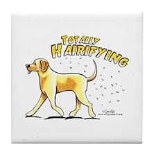 Yellow Lab Hairifying Tile Coaster