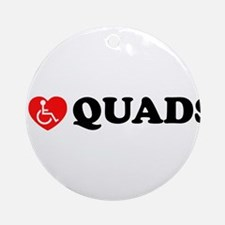 I Heart Quads Ornament (Round)