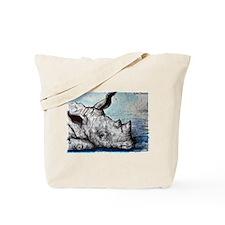 Rhino! Wildlife art! Tote Bag