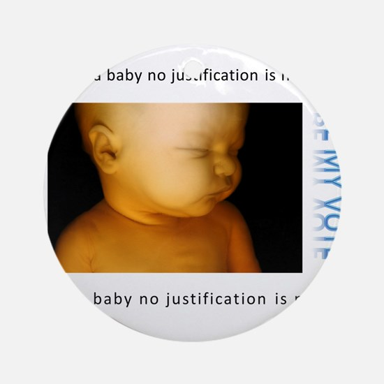 Pro-Life Justification Ornament (Round)