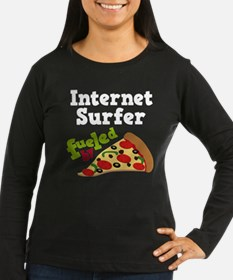 Internet Surfer Fueled By Pizza T-Shirt