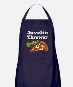 Javelin Thrower Fueled By Pizza Apron (dark)