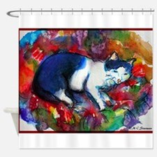 Cat! Colorful, pet, art! Shower Curtain