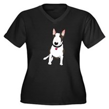 Unique English bull terrier Women's Plus Size V-Neck Dark T-Shirt