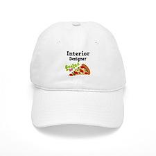 Interior Designer Fueled By Pizza Baseball Cap