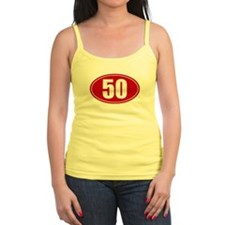 50 miles red oval sticker decal Jr.Spaghetti Strap