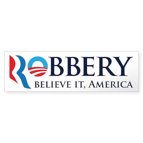 Robbery 2012 Parody Sticker (Bumper)