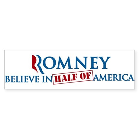 Believe In Half Of America 47% Sticker (Bumper)