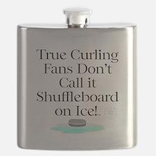 Curling Slogan Flask