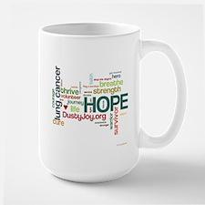 Lung Cancer Word Art (lt) Large Mug