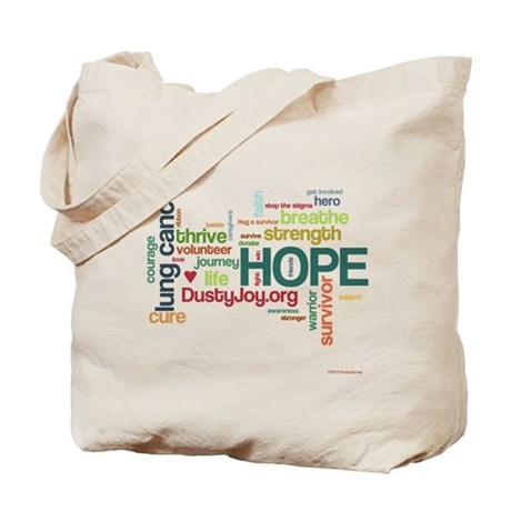 Lung Cancer Word Art (lt) Tote Bag