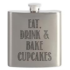 Eat Drink & Bake Cupcakes Flask