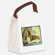 Basset Hound, dog, art! Canvas Lunch Bag
