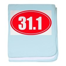 31.1 50k oval red decal sticker baby blanket