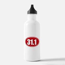 31.1 50k oval red decal sticker Water Bottle