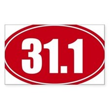 31.1 50k oval red decal sticker Decal