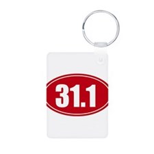 31.1 50k oval red decal sticker Keychains
