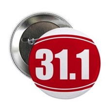 """31.1 50k oval red decal sticker 2.25"""" Button"""