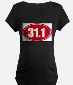 31.1 50k oval red decal sticker T-Shirt
