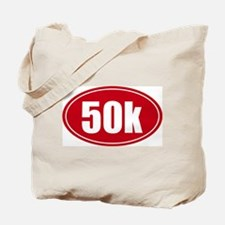 50k 31.1 red oval decal sticker Tote Bag