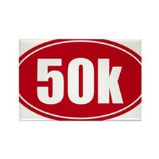50k 31.1 red oval decal sticker Rectangle Magnet