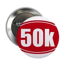 "50k 31.1 red oval decal sticker 2.25"" Button"
