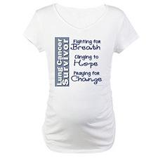 Breathe-Hope-Change Lung Cancer Survivor Shirt