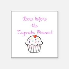 "Cupcake Queen Square Sticker 3"" x 3"""
