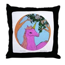 Unicorn by Kimber Rodgers. Throw Pillow