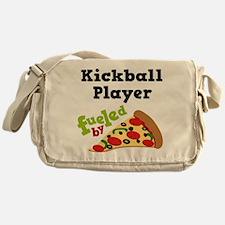 Kickball Player Funny Pizza Messenger Bag