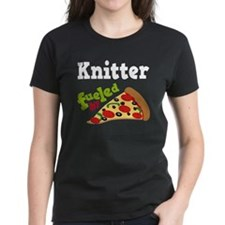 Knitter Fueled By Pizza Tee