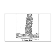 I Climbed the Tower of Pisa Wall Decal