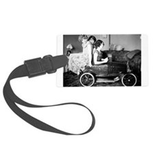 flappers in flivver Luggage Tag