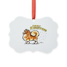 Pomeranian Hairifying Ornament