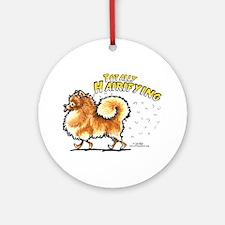 Pomeranian Hairifying Ornament (Round)
