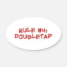 Rule #4 Oval Car Magnet