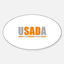 USADA UNJUST Sticker (Oval)