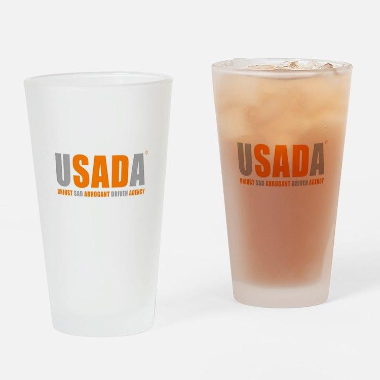 USADA UNJUST Drinking Glass