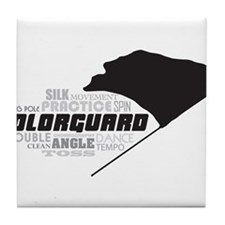 Color Guard Tile Coaster