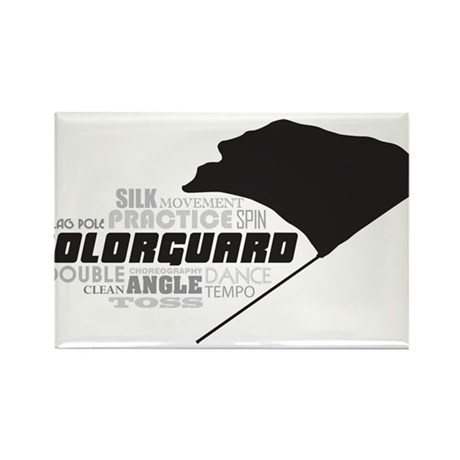 Color Guard Rectangle Magnet