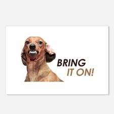 Bring It On Dachshund Postcards (Package of 8)