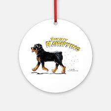 Rottweiler Hairifying Ornament (Round)