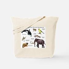 Washington State Animals Tote Bag