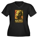 Ron Paul Needs You Women's Plus Size V-Neck Dark T