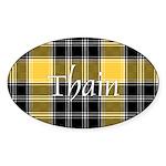 Tartan - Thain Sticker (Oval)