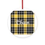 Tartan - Thain Ornament (Round)