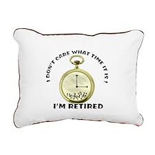 I'm Retired Rectangular Canvas Pillow